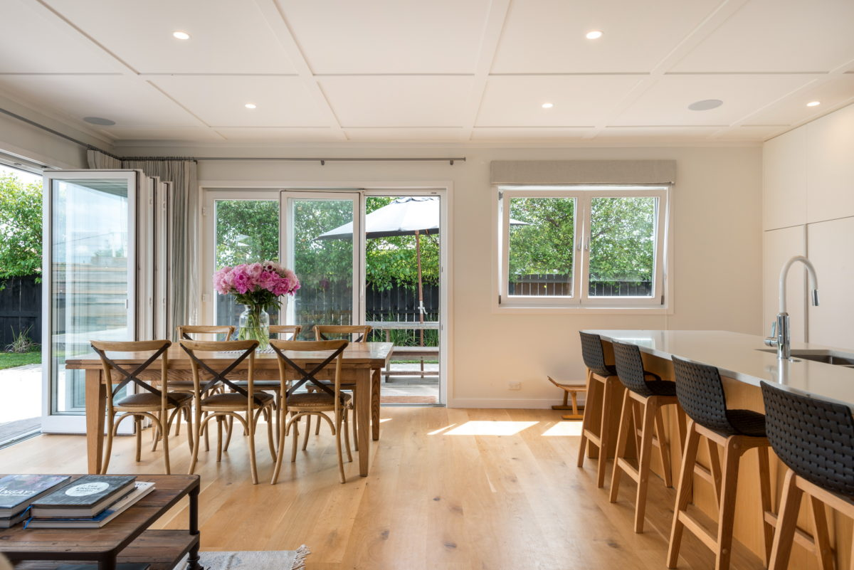 wooden floor - living room and dining room